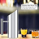 Fdit Stainless Steel Water Jug with Ice Guard