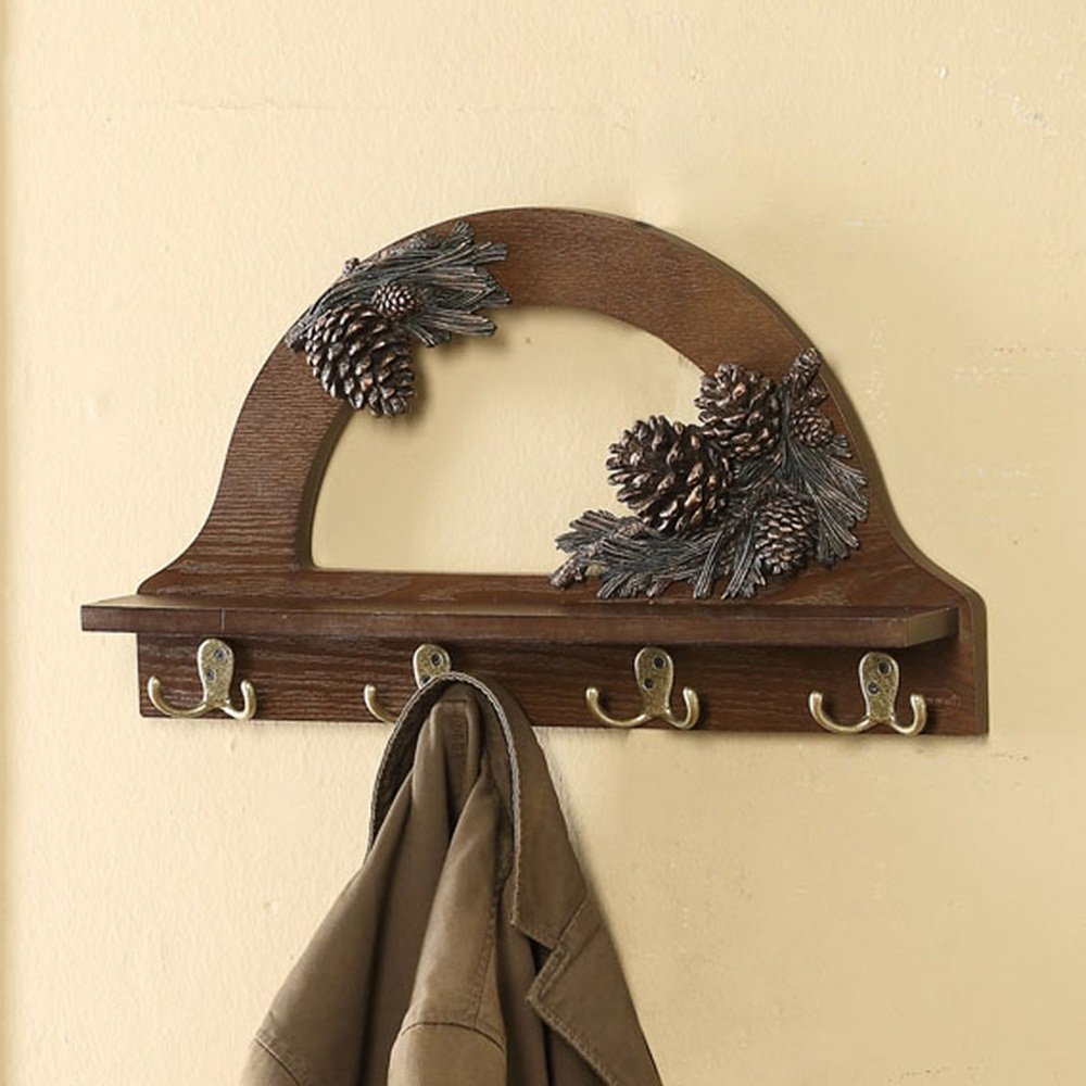 Creative Continental European Coat Rack / Wooden Shelf Hook Wall / Shelf Laminate