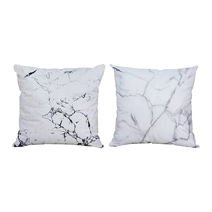 Bleum Cade Marble Pillow Cover Home Decorative Polyester Throw Pillow Cover by Bleum Cade