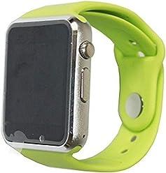 65db041376 C06 A1 SMART WATCH男女ブルートゥーススマート腕時計は携帯電話カード電話のカメラを