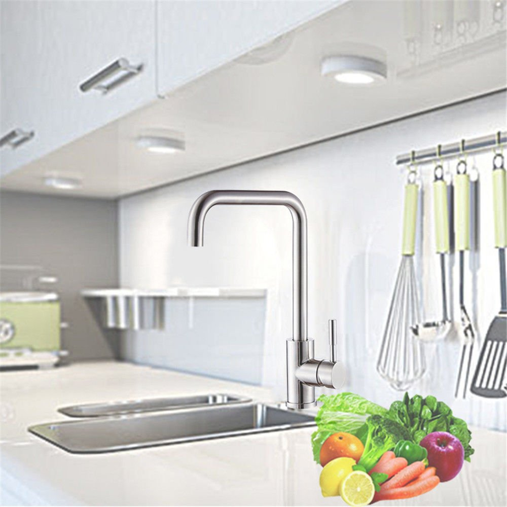 Fbict Kitchen hot and Cold Water Faucet redatable Sink Sink 304 Stainless Steel Sink Faucet [with 80CM Hose] for Kitchen Bathroom Faucet Bid Tap