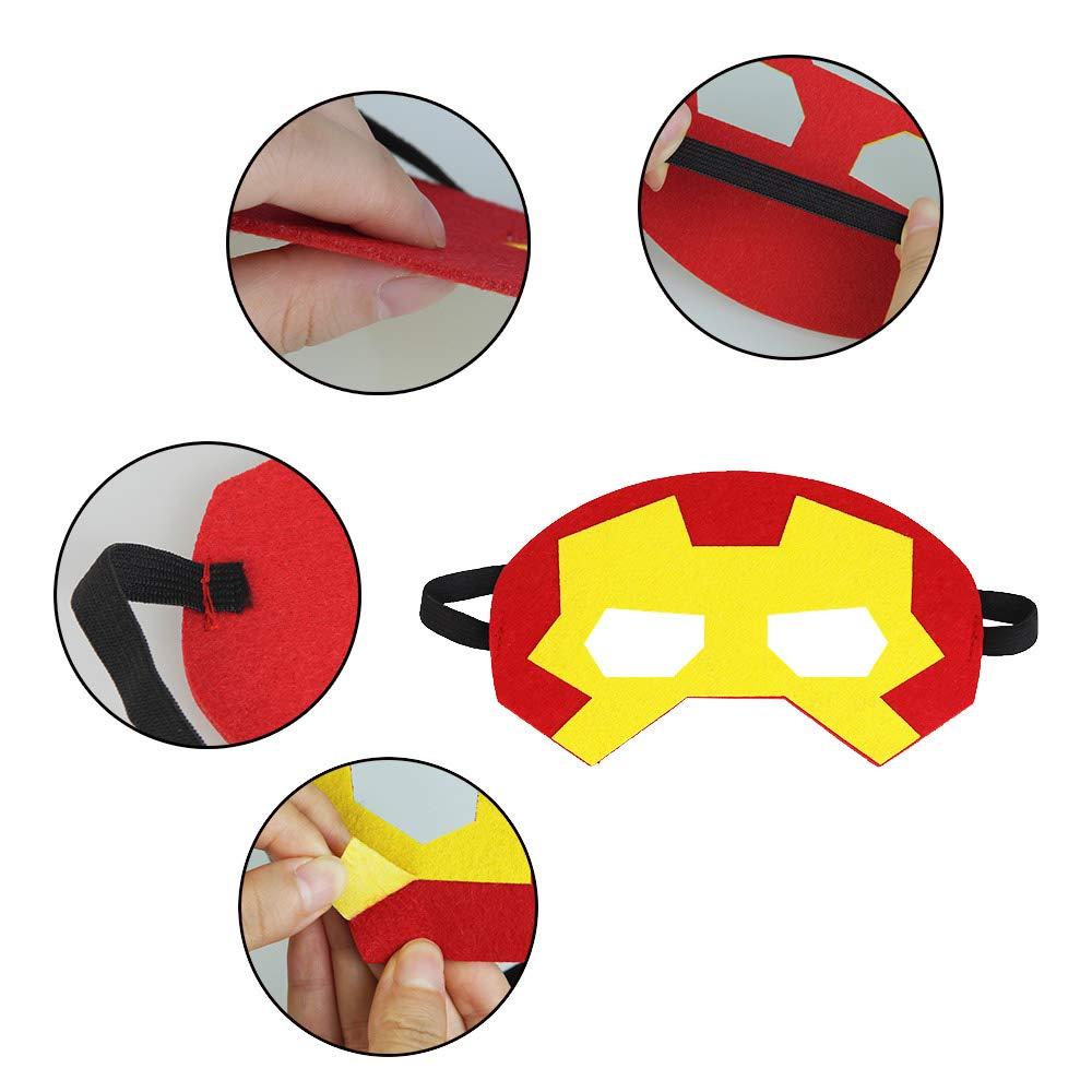 LYTIVAGEN 20er Superhelden Maske, Batman Maske,Superman maske mit ...