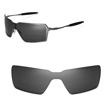 ade86a68d1 Walleva Replacement Lenses for Oakley Probation Sunglasses - Multiple  Options (Black - Polarized)