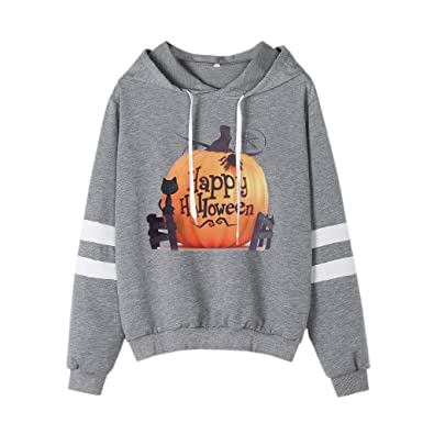 Amazon.com: HYIRI 2018NEW Halloween Printed Sweatshirt Long Sleeve Casual Hooded,Womens Shirt Blouse: Clothing