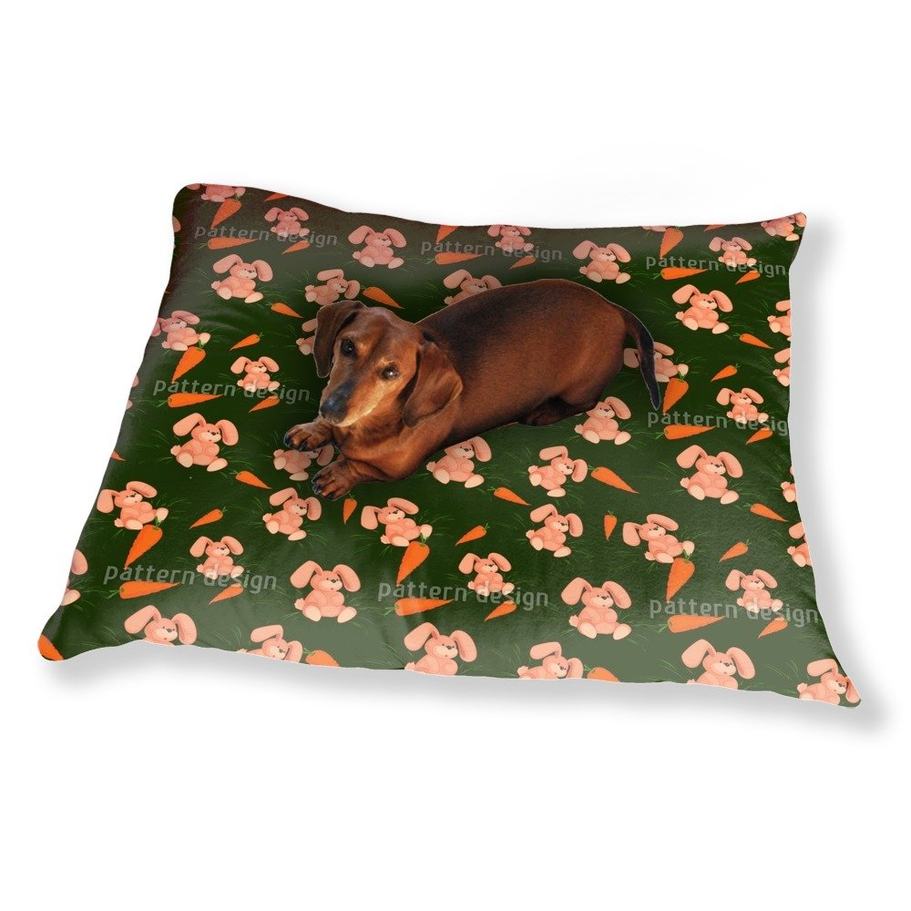 My Bunny Loves Carrots Dog Pillow Luxury Dog / Cat Pet Bed