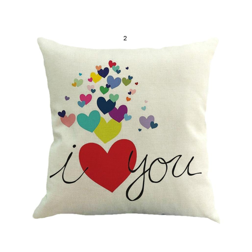 Día de San Valentín fundas de almohada, sukeq amor corazón ...