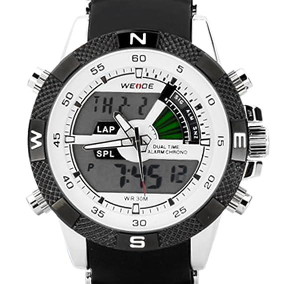 Weide WH1104-R-White - Reloj, correa de goma color negro: Weide: Amazon.es: Relojes