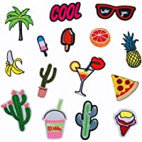 Fancyku Cloth Patches 15 Pieces Cute Pattern Embroidery Patches for Clothing