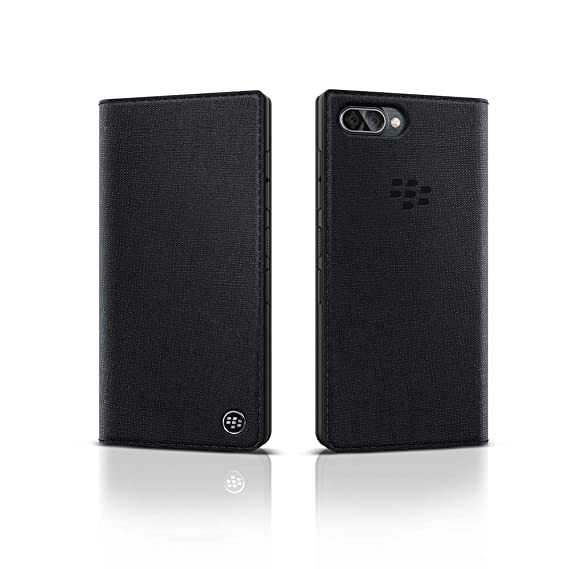 on sale add9f f0a42 BlackBerry Leather Flip Case for KEY2 LE