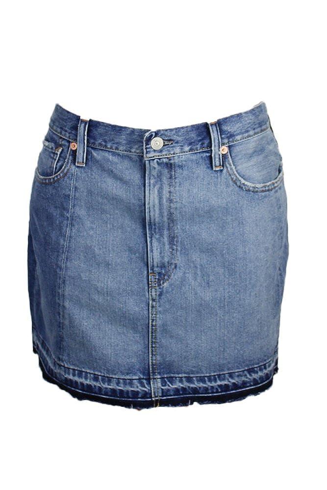 0b2168f093 RALPH LAUREN Denim & Supply Women's Frayed Denim Skirt (28, Curtis ...