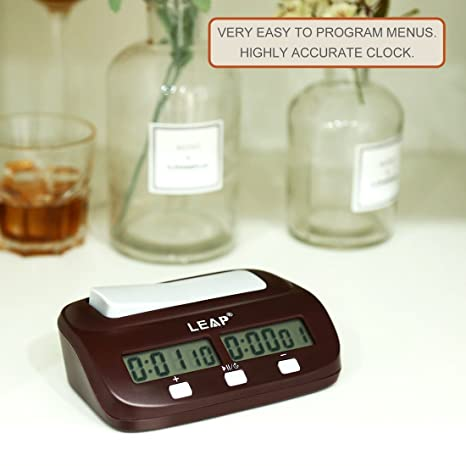 Dailyinshop Chess Clock Timer Reloj Digital de ajedrez Dos Pantallas LED Fashion Simple (Color: