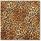 Animal Print Bandana by Lunarable, Wild Animal Leopard Skin Pattern Wildlife Nature Inspired Modern Illustration, Printed Unisex Bandana Head and Neck Tie Scarf Headband, 23 X 22 Inches, Sand Brown