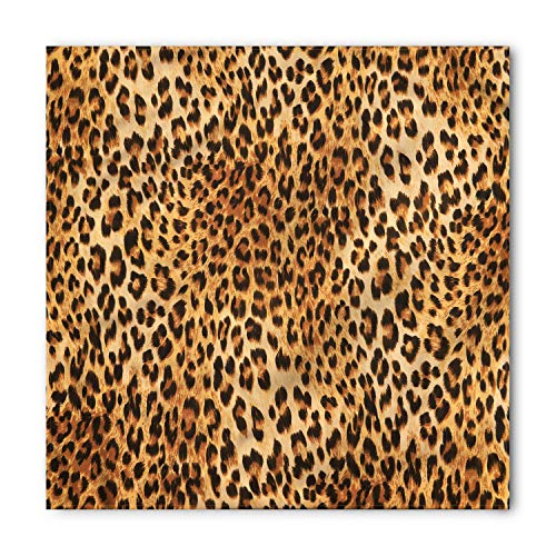 (Animal Print Bandana by Lunarable, Wild Animal Leopard Skin Pattern Wildlife Nature Inspired Modern Illustration, Printed Unisex Bandana Head and Neck Tie Scarf Headband, 23 X 22 Inches, Sand)