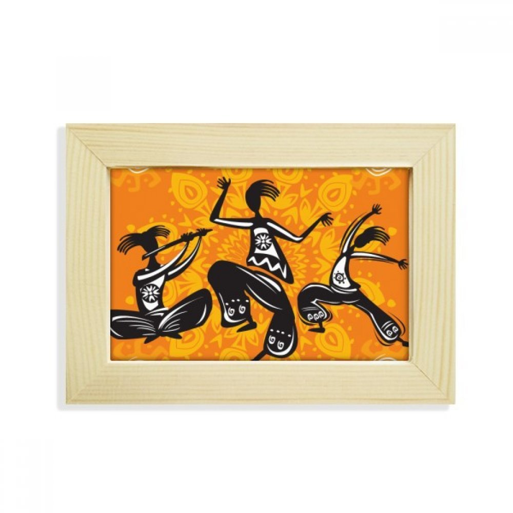 DIYthinker Dance People Mexico Totems Mexican Desktop Wooden Photo Frame Picture Art Painting 5x7 inch