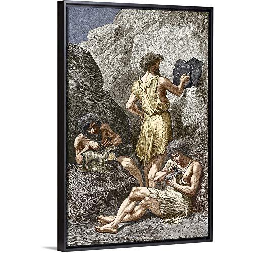 Stone Age Artists Black Floating Frame Canvas Art, 22