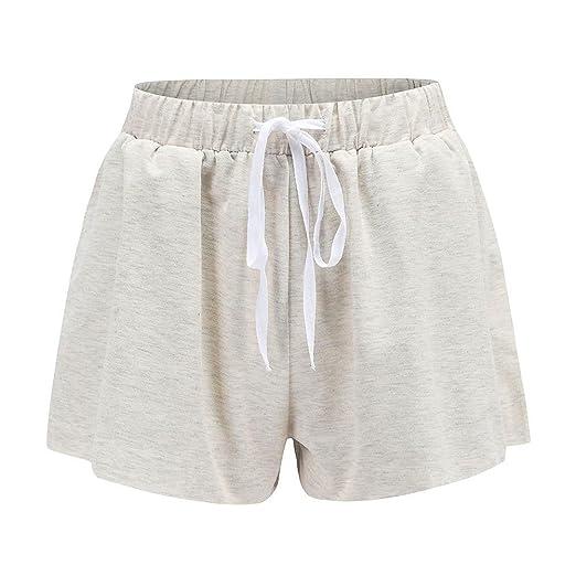 a9fa8e9046 Fedi Apparel Women Drawstring Elastic Sleep Shorts Stretchy Cotton Pajama  Shorts Solid Color at Amazon Women's Clothing store: