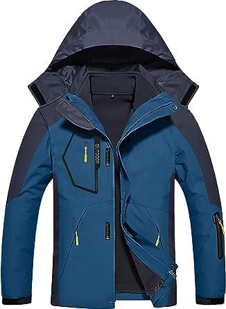 TONSEE Women Men Fleece Liner Outdoor Plus Size Hoodie Two Piece Set Sport Assault Coat