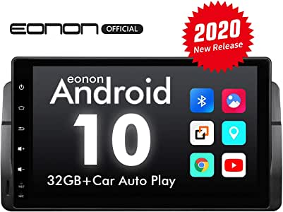 Car Stereo Double Din Car Stereo, Android Head Unit Android 10 Eonon Car Stereo Applicable to 3 Series 1999-2004(E46), 9 Inch Car Radio Support Split Screen, Built-in Apple Carplay/DSP -GA9450B