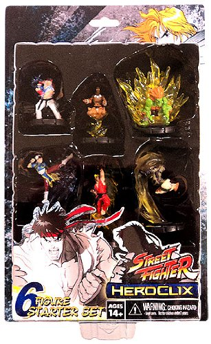 Street Fighter Heroclix Deluxe Starter Game Includes 6