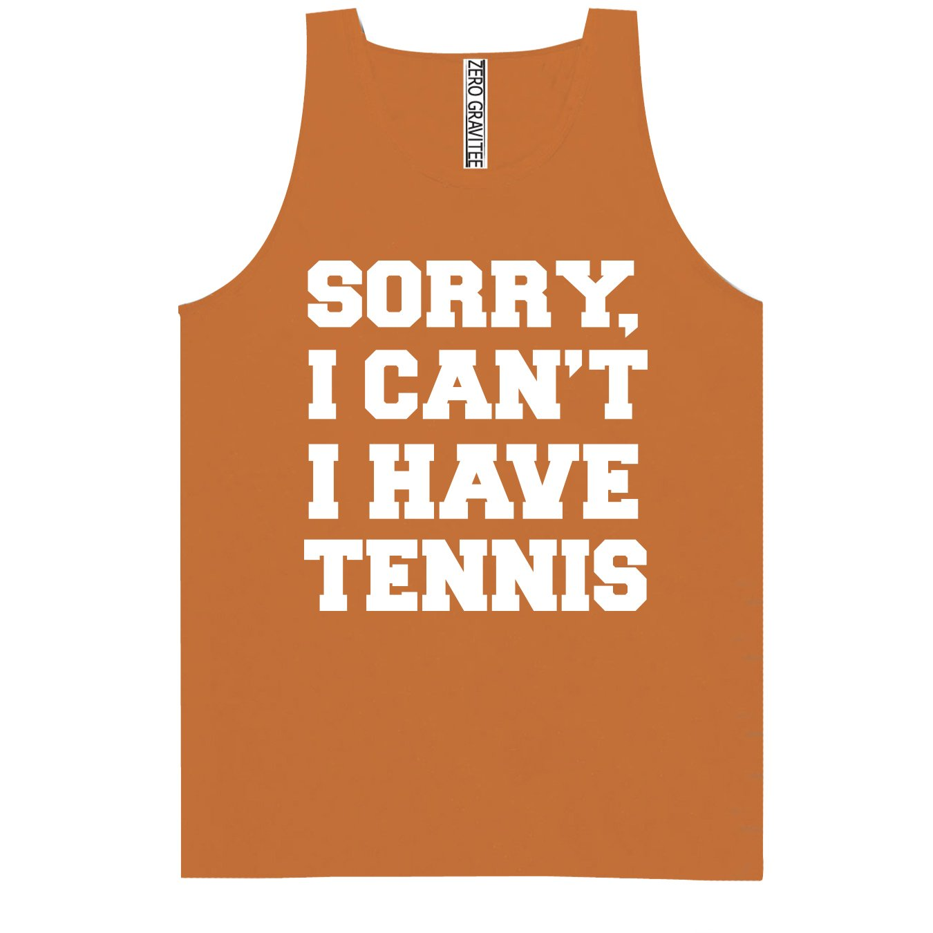 YOUTH Sorry I Have Tennis Pigment Dyed Ringspun Tank Tops in 12 colors