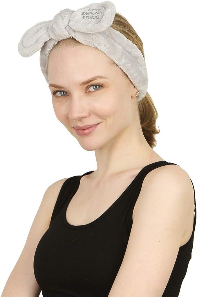 para cuando te aplicas maquillaje o haces cosplay /… para mujeres A-Gris el/ástica Bonita diadema de vell/ón Sea Team para el cabello tipo mo/ño
