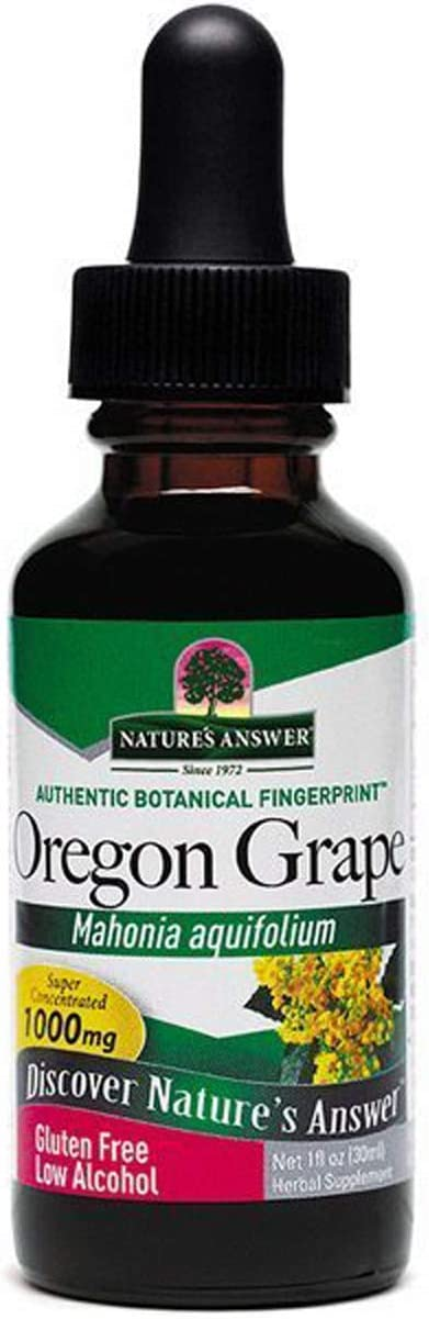 Nature s Answer Oregon Grape Root with Organic Alcohol, 1-Fluid Ounce