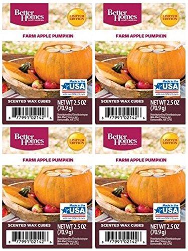Better Homes and GardensファームApple Pumpkinワックスキューブ – 4 -パック B01NAW3K75
