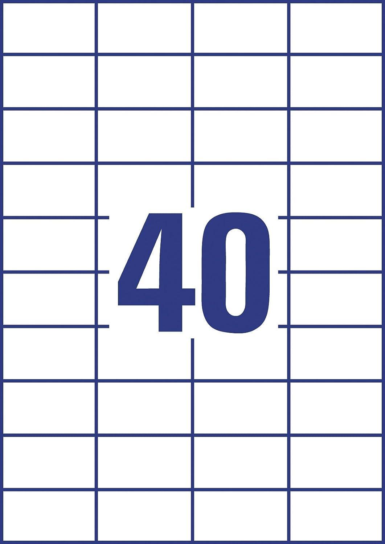 100 fogli per 1500 etichette europe100 ELA044 colore: bianco Etichette universali 70 x 50,8 mm