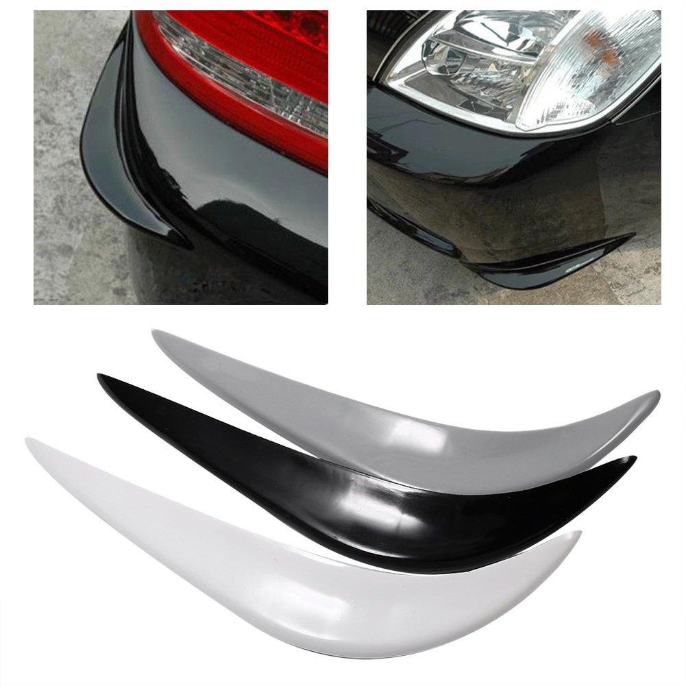 Color : White 1 Pair Rubber Universal Corner Car Bumper Protector Lip Guards