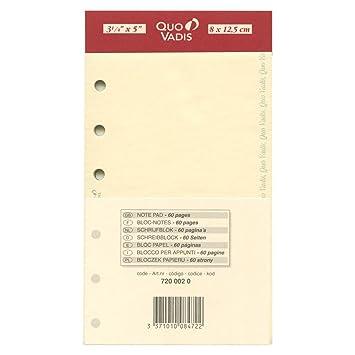 QUO VADIS-Recambio de bloque de notas para agenda Timer 14 ...