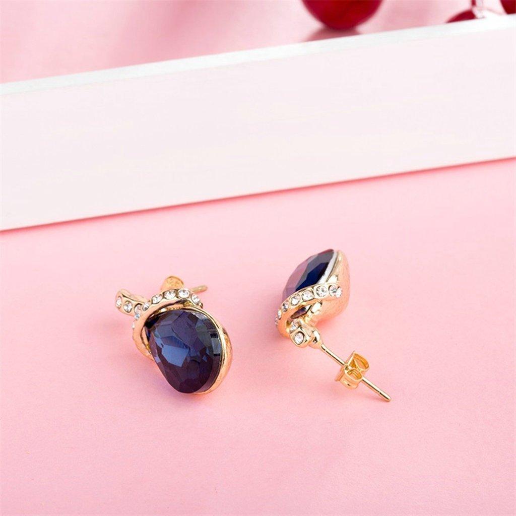 Daesar Gold Plated Earring Womens Water Drop Cubic Zirconia Earirng CZ Gold Stud Earrings for Women