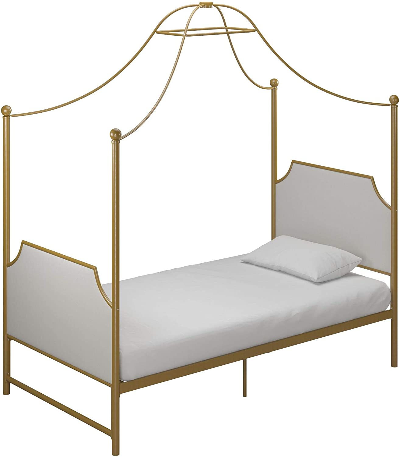 Little Seeds Monarch Hill Clementine Canopy Bed, Twin, Gold