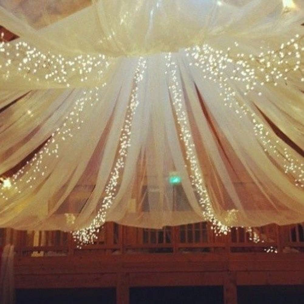 BIT.FLY Bolt Tulle 54x40Yards Tutu Fabric Nylon Pew Bow Bridal Favor Party Wedding Decorations Ivory