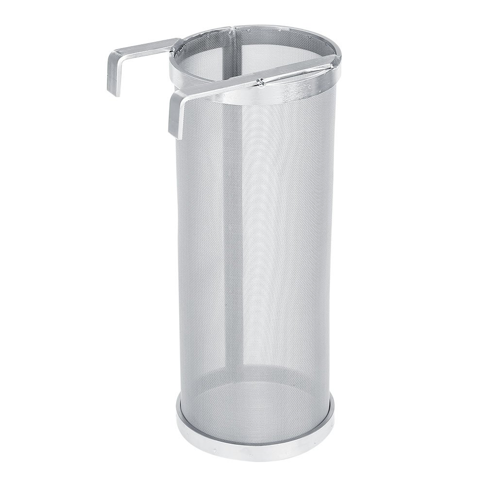Stainless Steel Beer Brewing Filter 300 Micron Homemade Brew Beer Hop Mesh Filter Strainer with Hook Kettle Brew Filter (#1)