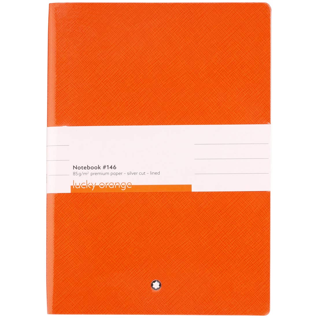 Mont Blanc Notebook 116225 Fine Stationery # 146/Leather Lined A5 Notebook with Soft Cover. Colour: Lucky Orange/192 Pages by MONTBLANC