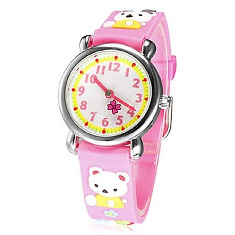 Fashion Brand Quartz Wrist Watch Baby Children Girls Boys Watch Bear Pattern Waterproof Watches
