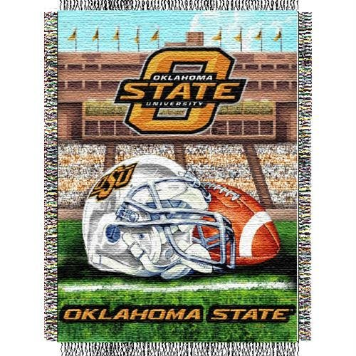 The Northwest Company Officially Licensed NCAA Oklahoma State Cowboys Home Field Advantage Woven Tapestry Throw Blanket, 48