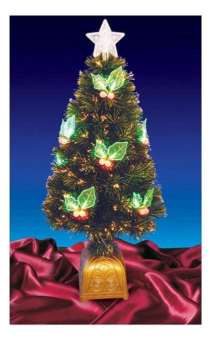 4' Pre-Lit LED Color Changing Fiber Optic Christmas Tree Holly Berries -  16169193 - Amazon.com: 4' Pre-Lit LED Color Changing Fiber Optic Christmas Tree