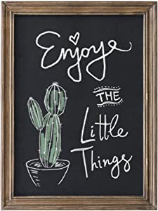Emaison Rustic Magnetic Chalkboard Signs 16 x 20 inch Wood Framed Wall Hanging Display Board for Wedding, Bar, Kitchen, Brown