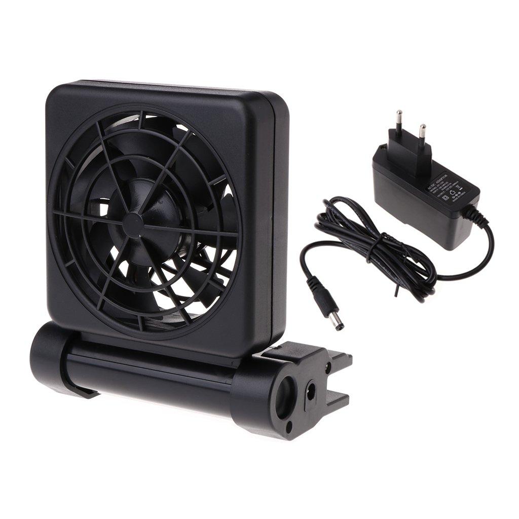JAGETRADE Kühlventilator Für Aquarium Wasser Einstellbare Wind 1/2 Temperaturregelung EU Stecker Single