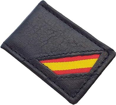 Tiendas LGP- Pinza Clip para Billetes Piel Negra Bandera de España: Amazon.es: Equipaje