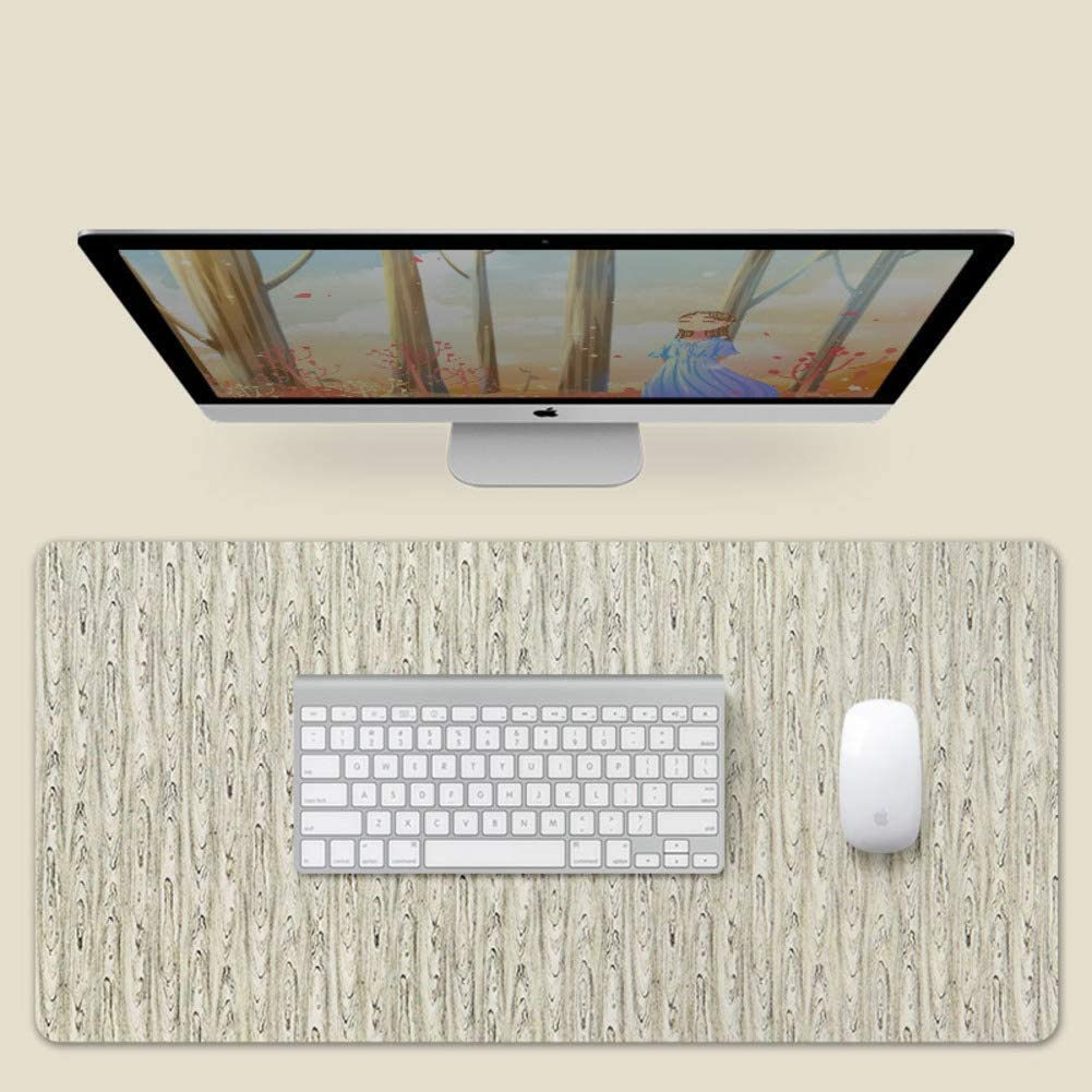 Mouse Pad Stitched Edge Waterproof Pu Leather Desk Mat Gaming Mouse Mat for Office and Home-j 140x70cm 55x28inch Large Table Pad Protector