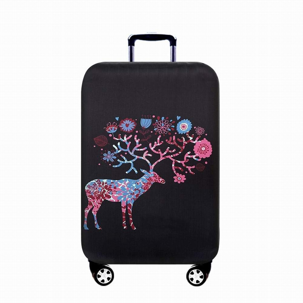 DHUYUN-Bag Luggage Cover Protector Deer Painted Elastic Travel Luggage Cover Keep Luggage Clean Fits 18 to 32 Inch Luggage Washable Baggage Covers 18-21 Color : E, Size : S