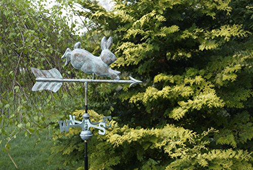 Good Directions Rabbit Garden Weathervane with Garden Pole, Blue Verde Copper by Good Directions (Image #2)