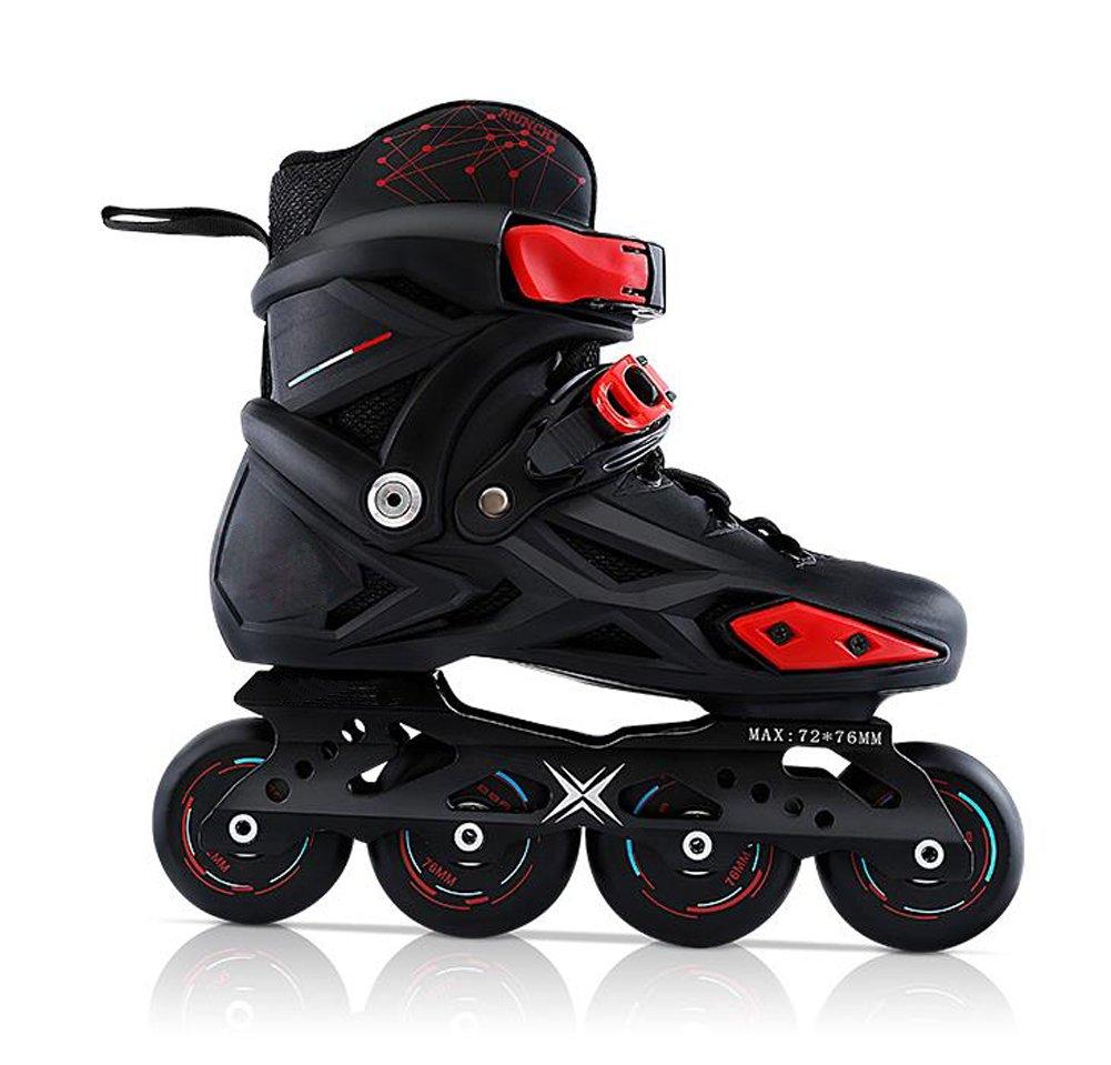 TX Professional Inline Skatesメンズ、レディース、ユニセックスローラースケートの、LED 88 A PUホイールPP shoehsell、abec-7軸受 41 ブラック B07DW2J943