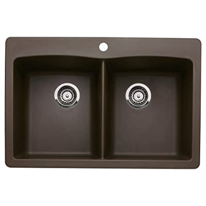 Blanco 440218 Diamond Double-Basin Drop-In or Undermount Granite ...