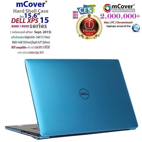 """mCover – Carcasa rígida para portátiles DELL XPS Azul Agua 15.6"""" XPS 9560/9550"""