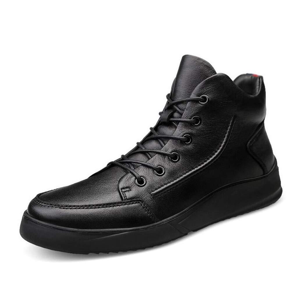 Hy Formelle Schuhe der Männer, warme Winddichte Herbst-Winter-Flache Baumwollschuhe, Schnür-Martins-Stiefel, Freizeitschuhe (Farbe   schwarz Single schuhe, Größe   40)