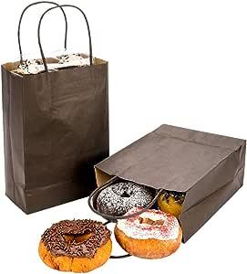 "Restaurantware RWA0406B Saving Nature Black Paper Medium Shopping Bag 10"" x 6 3/4"" x 12"" 100 Count Box"