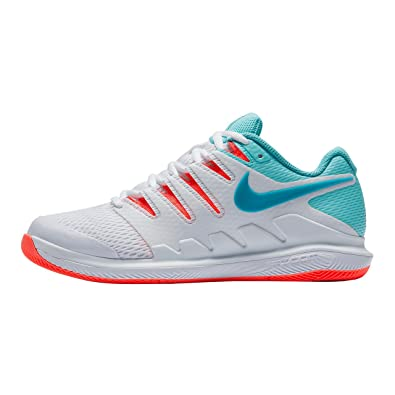 pretty nice e9267 d501a Nike Womens Zoom Vapor X Tennis Shoes (6 B US, White Neo Turquoise